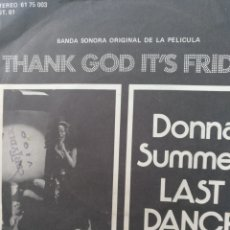 Discos de vinilo: ** THANKS GOD IS FRIDAY** DONNA SUMMER **. Lote 267733259