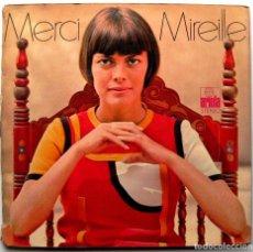 Discos de vinilo: MIREILLE MATHIEU - MERCI MIREILLE - LP ARIOLA 1970 ALEMANIA POSTER PORTADA ABIERTA BPY. Lote 267736194