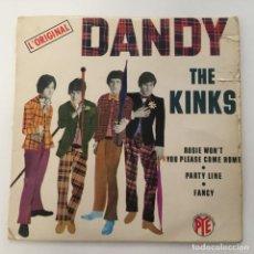 Discos de vinilo: THE KINKS - DANDY . SINGLE . 1966 FRANCIA. Lote 267768504