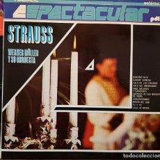 Discos de vinilo: ESPECTACULAR STRAUSS - WERNER MÜLLER Y SU ORQUESTA. Lote 267777264