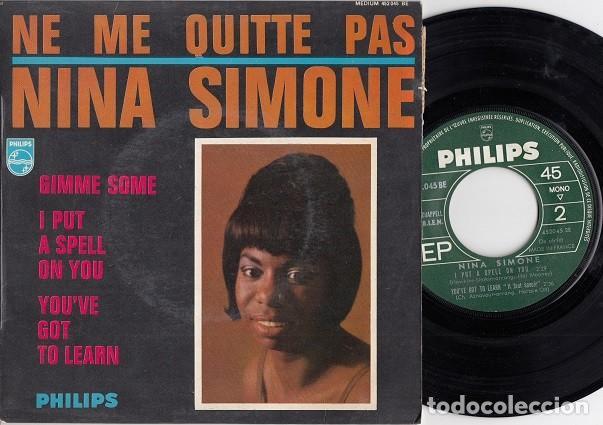 NINA SIMONE - NE ME QUITTE PAS + 3 - EP DE VINILO EDICION FRANCESA # (Música - Discos de Vinilo - EPs - Funk, Soul y Black Music)