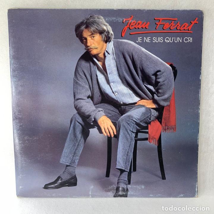 LP - VINILO JEAN FERRAT - JE NE SUIS QUUN CRI - DOBLE PORTADA - FRANCIA - AÑO 1985 (Música - Discos - LP Vinilo - Canción Francesa e Italiana)