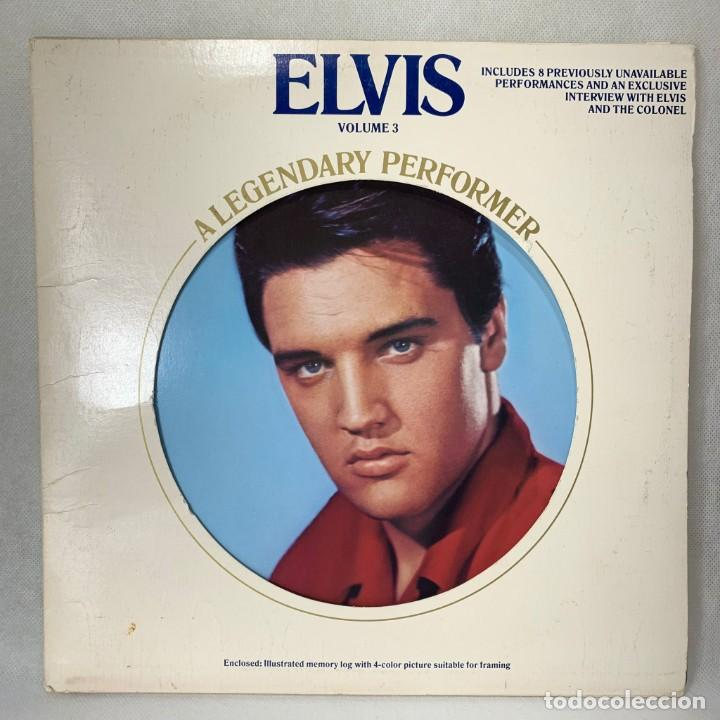 LP - VINILO ELVIS PRESLEY - A LEGENDARY PERFORMER - VOLUME 3 + ERNCARTE + LIBRO - CANADA - AÑO 1978 (Música - Discos - LP Vinilo - Rock & Roll)
