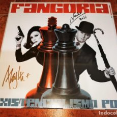 Disques de vinyle: FANGORIA EXISTENCIALISMO POP FIRMADO LP VINILO BLANCO + CD PRECINTADO 2021 5 TEMAS JUAN GATTI. Lote 267807589