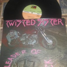 Discos de vinilo: TWISTED SISTER - LEADER OF THE PACK / I WANNA ROCK 12 PULGADAS (ATLANTIC 1983) ORIGINAL ENGLAND. Lote 267808239