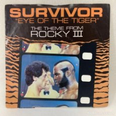 Disques de vinyle: SINGLE SURVIVOR - EYE OF THE TIGER (THE THEME FROM ROCKY III) - UK - AÑO 1982. Lote 267814049