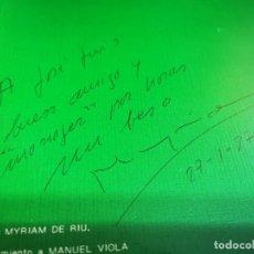 Discos de vinilo: MYRIAM DE RIU PARA LA PAZ PUEBLO NORTEÑO MAXI SINGLE VINILO FIRMADO 1986 CONTIENE 4 TEMAS AUTOGRAFO. Lote 267822419