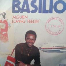Discos de vinilo: BASILIO ** ALGUIEN * LOVIN' FEELIN' **. Lote 267824604