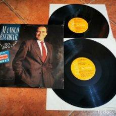 Discos de vinilo: MANOLO ESCOBAR 30 ANIVERSARIO 2 LP VINILO DEL AÑO 1988 JOSE MARIA CANO MECANO CONTIENE 21 TEMAS RARO. Lote 267825019