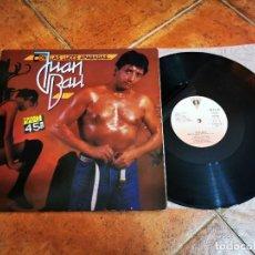 Discos de vinilo: JUAN BAU CON LAS LUCES APAGADAS MAXI SINGLE VINILO DEL AÑO 1985 AZUL Y NEGRO CONTIENE 3 TEMAS. Lote 267826389