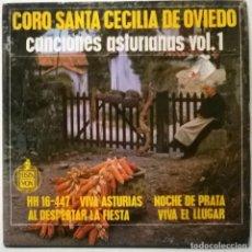 Discos de vinilo: CORO SANTA CECILIA DE OVIEDO. CANCIONES ASTURIANAS VOL. 1. VIVA ASTURIAS + 3. HISPAVOX SPAIN 1963 EP. Lote 267841899