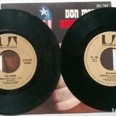 Dischi in vinile: DON MCLEAN. AMERICAN PIE (PART ONE & TWO). UA, SPAIN 1971 (2 SINGLES). Lote 267845634