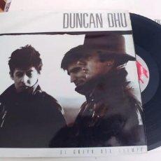 Disques de vinyle: DUNCAN DHU-LP EL GRITO DEL TIEMPO-ENCARTE LETRAS-LOMO REGULAR,VINILO BIEN. Lote 267845834