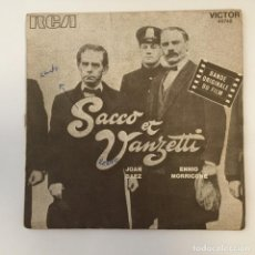 Disques de vinyle: JOAN BAEZ & ENNIO MORRICONE - SACCO ET VANZETTI (BANDE ORIGINALE DU FILM) . 1971 FRANCIA. Lote 267860794