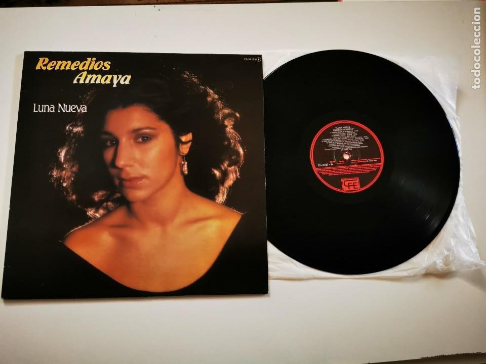 REMEDIOS AMAYA LUNA NUEVA LP VINILO DEL AÑO 1983 QUIEN MANEJA MI BARCA EUROVISION ESPAÑA 1983 (Música - Discos - LP Vinilo - Festival de Eurovisión)
