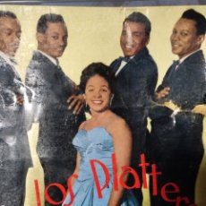 Discos de vinilo: LOS PLATTERS ** LOVE YOU FUNNY THING * DON'T LET GO * IT'S RAINING OUTSIDE * MEAN TO ME **. Lote 267824194