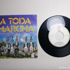 Discos de vinilo: A TODA MARCHA. GRAN BANDA DE INFANTERÍA DE MARINA DE MADRID. DAVID BEIGBEDER. LP. Lote 267882304