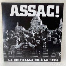 Discos de vinilo: LP - VINILO ASSAC - LA QUITXALLA DIRÁ LA SEVA - ESPAÑA - AÑO 2013 - VINILO ROJO. Lote 267888714