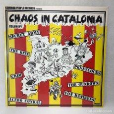 Discos de vinilo: LP - VINILO CHAOS IN CATALONIA VOLUM Nº 1 - SECRET ARMY / THE BITE / CRIM / ACERO CONDAL - NUEVO -. Lote 267890074