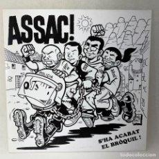 Discos de vinilo: LP - VINILO ASSAC - S'HA ACABAT EL BRÓQUIL! + ENCARTE - ESPAÑA - AÑO 2013 - VINILO BLANCO. Lote 267896354