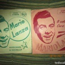 Discos de vinilo: MARIO LANZA - MARECHIARE / O SOLE MIO 2 SINGLES ORIGINALES ESPÑAOL - RCA RECORDS 1958 MUY NUEVOS (5). Lote 267908174