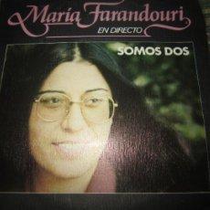 Discos de vinilo: MARIA FARANDOURI - SOMOS DOS SINGLE PROMO ORIGINAL ESPAÑOL MOVIEPLAY 1979 MUY NUEVO (5). Lote 267909439