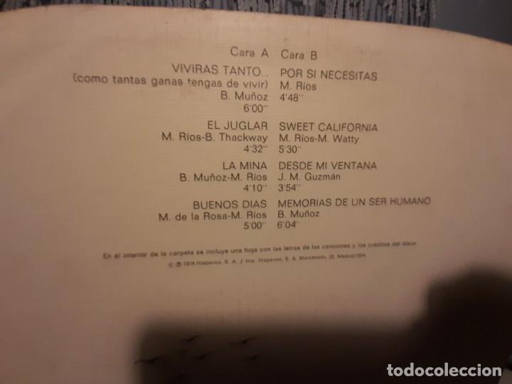 Discos de vinilo: LP MIGUEL RIOS : MEMORIAS DE UN SER HUMANO - Foto 3 - 268025389