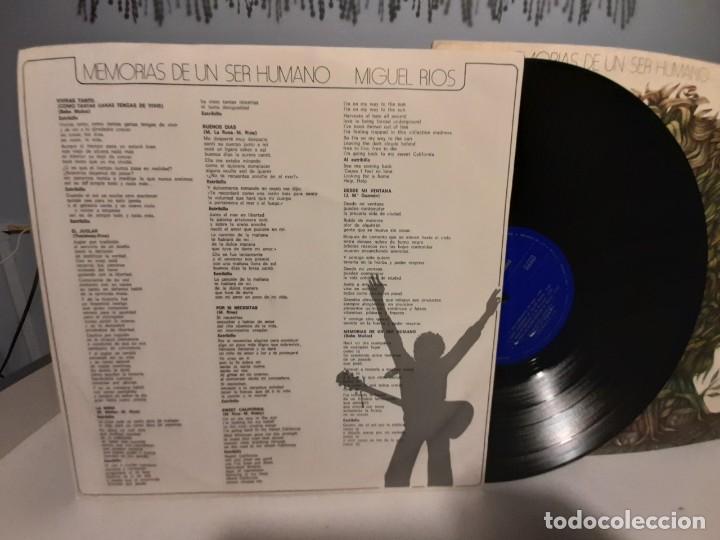 Discos de vinilo: LP MIGUEL RIOS : MEMORIAS DE UN SER HUMANO - Foto 5 - 268025389