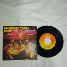 Discos de vinilo: VINILO 45 R. P. M.- GOOMBAY DANCE BAND-1981-TIENE UN DEFECTO: ESTÁ LIGERAMENTE DOBLADO--PERO SE OYE-. Lote 268026944