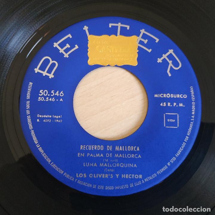 Discos de vinilo: LOS OLIVERS Y HECTOR - RECUERDO DE MALLORCA - RARO EP BELTER DE 1962 SPAIN BUEN ESTADO - Foto 3 - 268115104