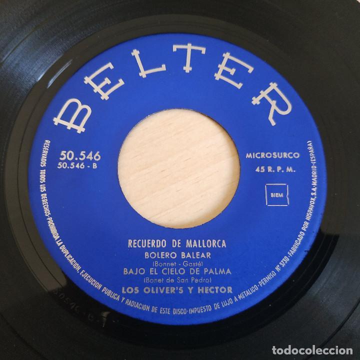 Discos de vinilo: LOS OLIVERS Y HECTOR - RECUERDO DE MALLORCA - RARO EP BELTER DE 1962 SPAIN BUEN ESTADO - Foto 4 - 268115104