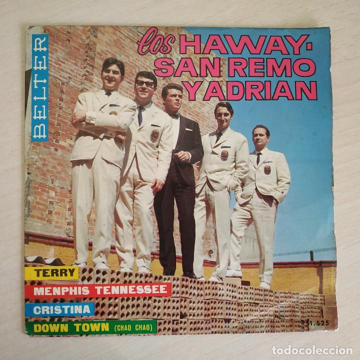 LOS HAWAY, SAN REMO Y ADRIAN - TERRY + 3 - RARO EP BELTER SPAIN 1965 (NEAR MINT / VG+) (Música - Discos de Vinilo - EPs - Grupos Españoles 50 y 60)