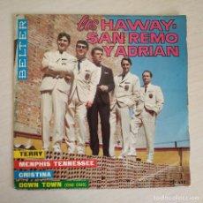 Discos de vinilo: LOS HAWAY, SAN REMO Y ADRIAN - TERRY + 3 - RARO EP BELTER SPAIN 1965 (NEAR MINT / VG+). Lote 268133919