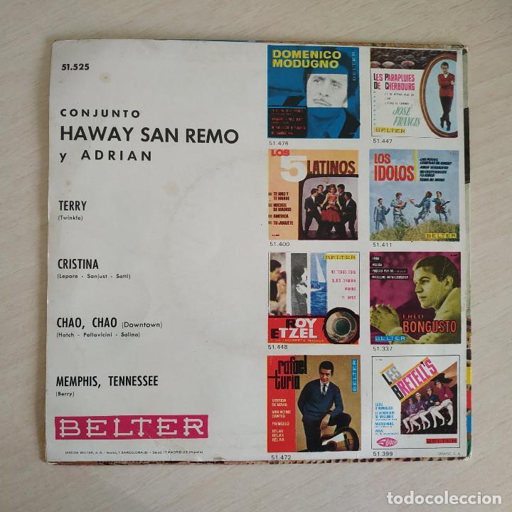 Discos de vinilo: LOS HAWAY, SAN REMO Y ADRIAN - TERRY + 3 - RARO EP BELTER SPAIN 1965 (NEAR MINT / VG+) - Foto 2 - 268133919