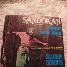 Discos de vinilo: SANDOKAN. VERSIÓN ORIGINAL DE LA PELÍCULA EN ESPAÑOL. RCA 1976. SINGLE DE VINILO.. Lote 268144919