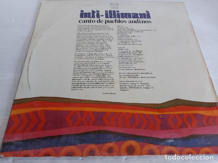 Discos de vinilo: INTI-ILLIMANI / CANTO DE PUEBLOS ABDINOS / LP - MOVIE PLAY-1981 / MBC. ***/*** - Foto 2 - 268148194