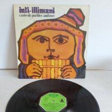 Discos de vinilo: INTI-ILLIMANI / CANTO DE PUEBLOS ABDINOS / LP - MOVIE PLAY-1981 / MBC. ***/***. Lote 268148194