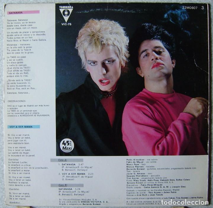 Discos de vinilo: ALMODOVAR Y McNAMARA.SATANASA-VOY A SER MAMA MAXI ...1ª EDICION 1983 - Foto 2 - 268152244