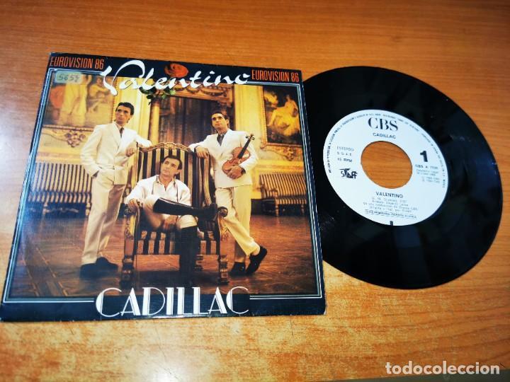 CADILLAC VALENTINO EUROVISION 86 SINGLE VINILO PROMO DEL AÑO 1986 CONTIENE 1 TEMA MUY RARO (Música - Discos - Singles Vinilo - Festival de Eurovisión)