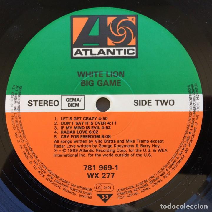 Discos de vinilo: White Lion – Big Game Germany,1989 Atlantic - Foto 6 - 37060114