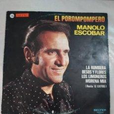 Discos de vinilo: 48341 - LP - MANOLO ESCOBAR - EL POROMPOMPERO. Lote 268272499