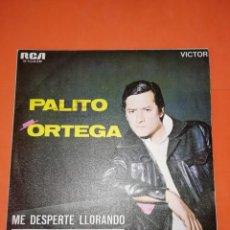 Discos de vinilo: PALITO ORTEGA. ME DESPERTE LLORANDO. RCA VICTOR 1969.. Lote 268277279