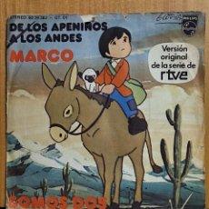 Discos de vinilo: MARCO. DE LOS APENINOS A LOS ANDES. 1976 SINGLE. Lote 268386684