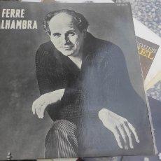 Discos de vinilo: LEO FERRE A L' ALHAMBRA. Lote 268399544
