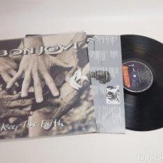 Disques de vinyle: BON JOVI. KEEP THE FAITH. LP-REF-1AC. Lote 268413804