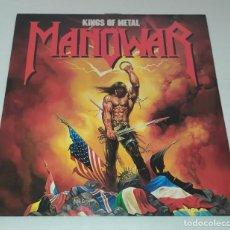 Discos de vinilo: LP MANOWAR - KINGS OF METAL. Lote 268416759