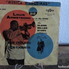 Discos de vinilo: LOUIS ARMSTRONG - MÚSICA Y LÁGRIMAS - THE GLENN MILLER STORY. Lote 268418054