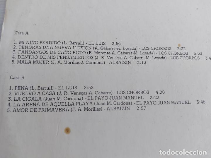Discos de vinilo: LOS CHORBOS-EL LUIS-EL PAYO JUAN MANUEL-ALBAIZIN / LP - CAUDAL-1978 / MBC. ***/*** - Foto 3 - 268421554
