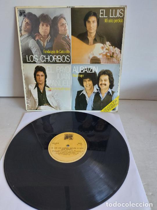 LOS CHORBOS-EL LUIS-EL PAYO JUAN MANUEL-ALBAIZIN / LP - CAUDAL-1978 / MBC. ***/*** (Música - Discos - LP Vinilo - Flamenco, Canción española y Cuplé)