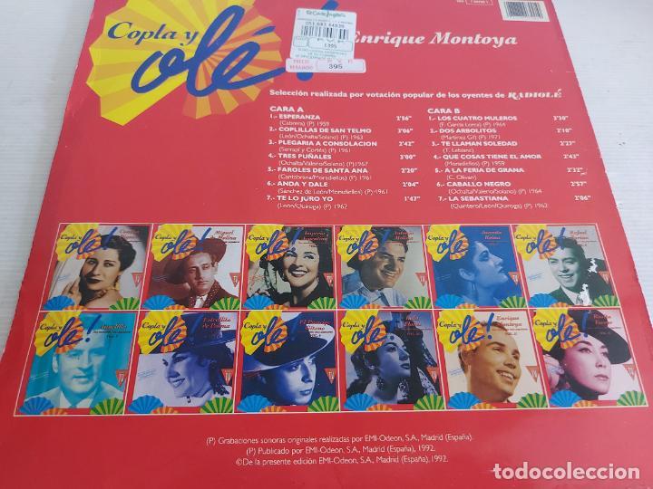 Discos de vinilo: ENRIQUE MONTOYA / COPLA Y OLÉ ! VOL. 11 / LP - EMI-1992 / MBC. ***/*** - Foto 2 - 268424459